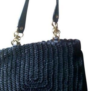 Elliott Lucca Angelina Navy Leather Shoulder Bag